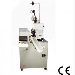 Automatic twin wire cutting stripping and crimping machine